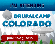 I'm Attending DrupalCamp Colorado - June 26-27, 2010