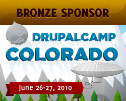 Bronze Sponsor, DrupalCamp Colorado - June 26-27, 2010