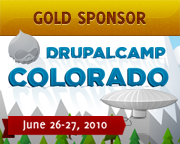 Gold Sponsor, DrupalCamp Colorado - June 26-27, 2010