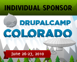Individual Sponsor, DrupalCamp Colorado - June 26-27, 2010