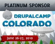 Platinum Sponsor, DrupalCamp Colorado - June 26-27, 2010