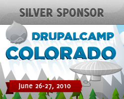 Silver Sponsor, DrupalCamp Colorado - June 26-27, 2010
